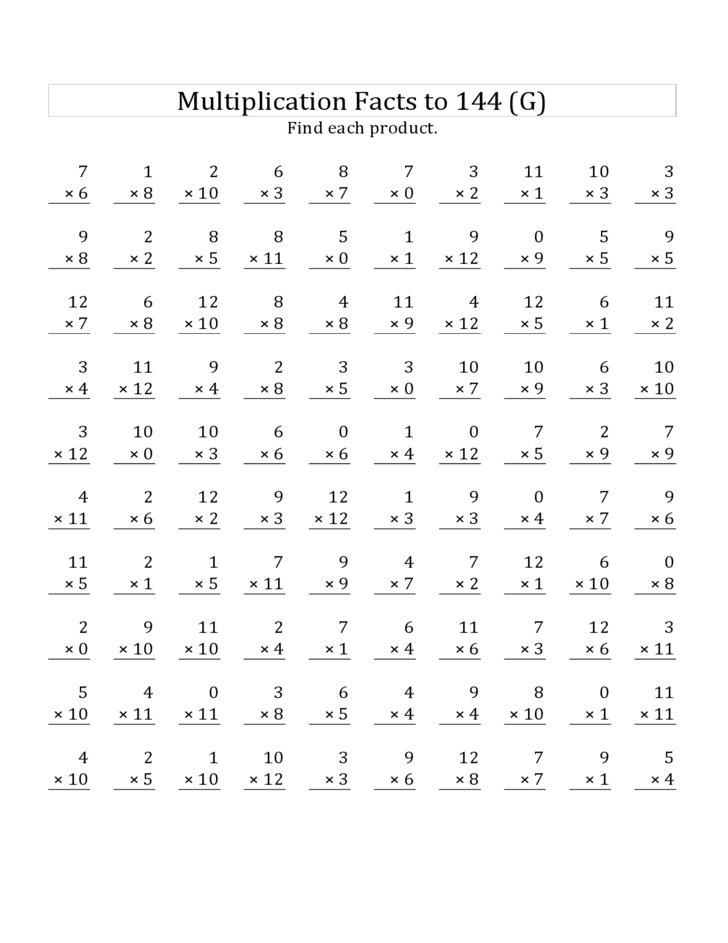 math worksheet : mixed multiplication worksheets 0 12  worksheets : Multiplication Facts Worksheets 0 12