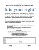 Victim Impact Statement Form - Texas Free Download