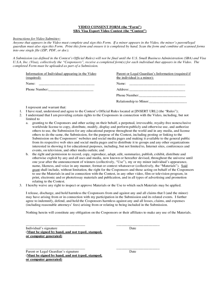 Video Informed Consent Form