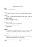 Video Production Contract Template Free Download