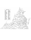 Virginia County Map with County Names Free Download