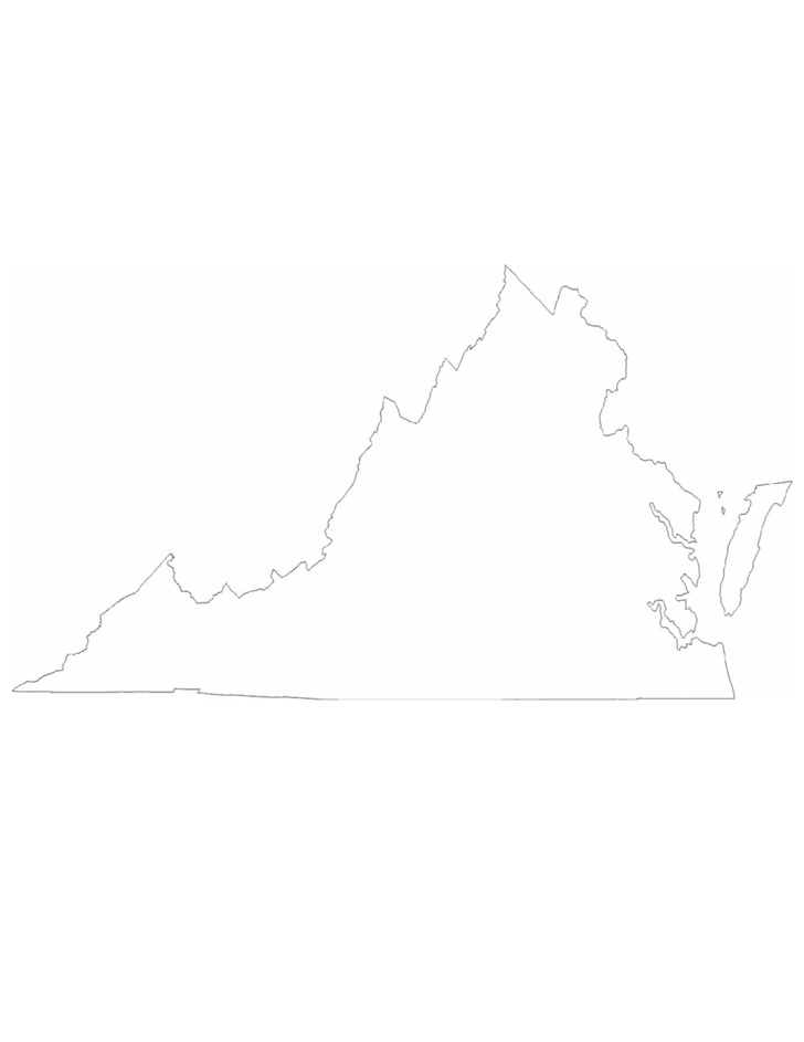 Virginia State Outline Map