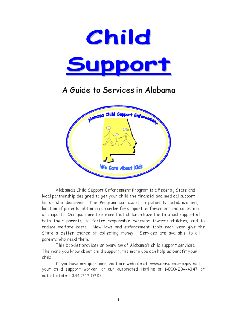 Child Support - A Guide to Services in Alabama