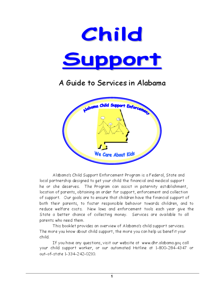Child Support - A Guide to Services in Alabama Free Download