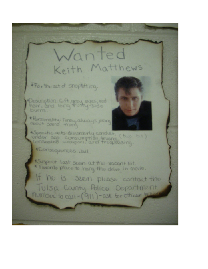 The gallery for --> The Outsiders Johnny Cade Wanted Poster