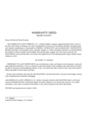 Warranty Deed - Arkansas Free Download