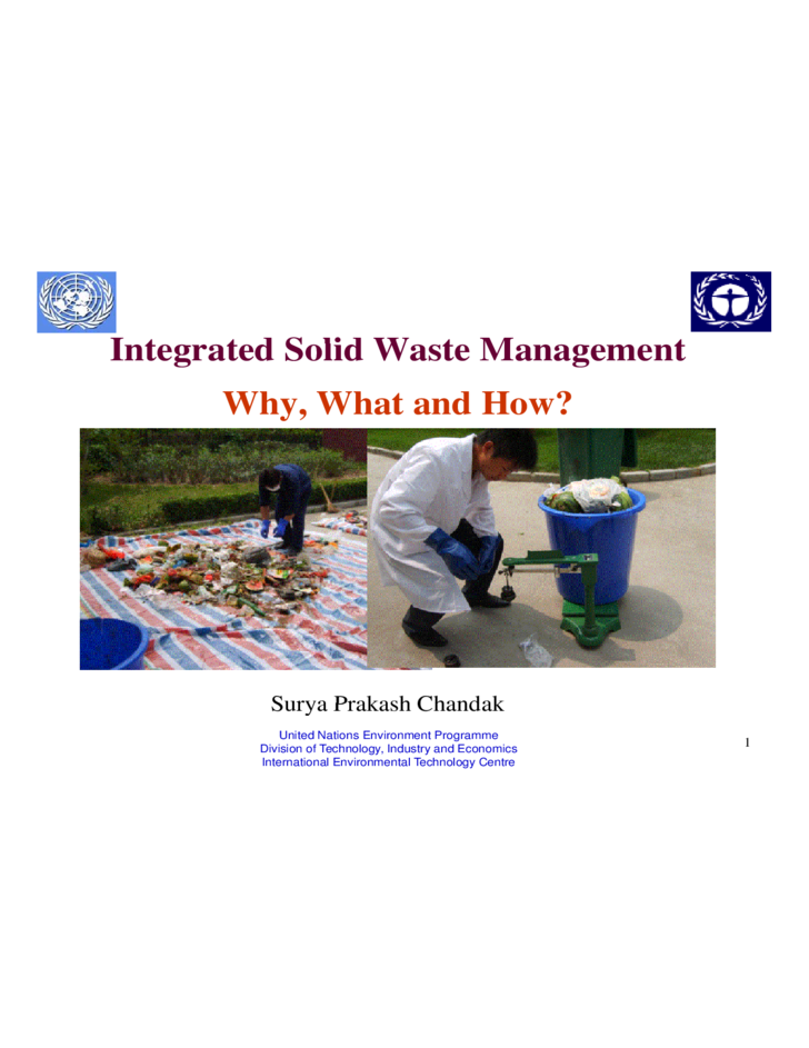 dissertations on solid waste management