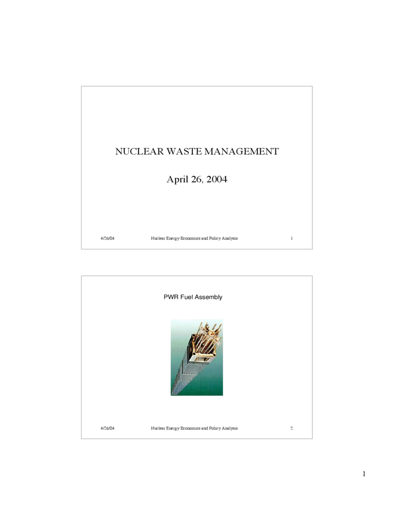 Nuclear Waste Management Powerpoint