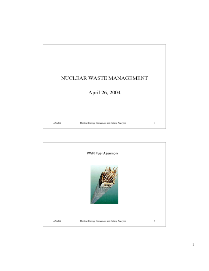 nuclear waste management powerpoint free download
