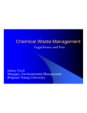 Chemical Waste Management PPT Free Download