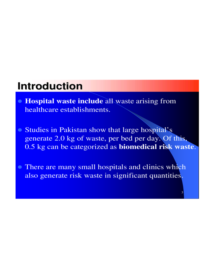 Hospital Waste Management Ppt Free Download