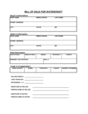 Watercraft Bill of Sale Form - Tennessee Free Download