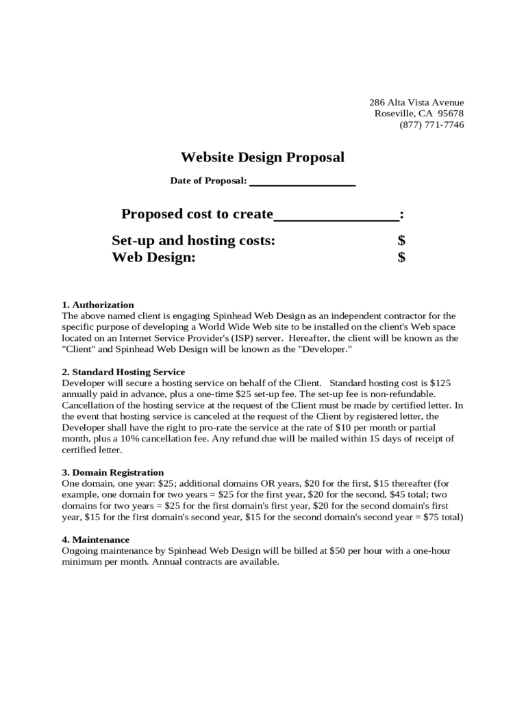 Website Proposal Template - 3 Free Templates in PDF, Word, Excel ...