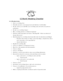 Wedding Checklist Template - Nipissing University Free Download