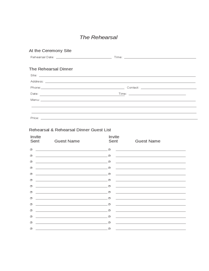 wedding planning worksheets sample free download