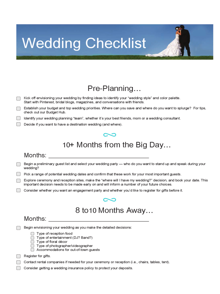 wedding checklist template 9 free templates in pdf word excel