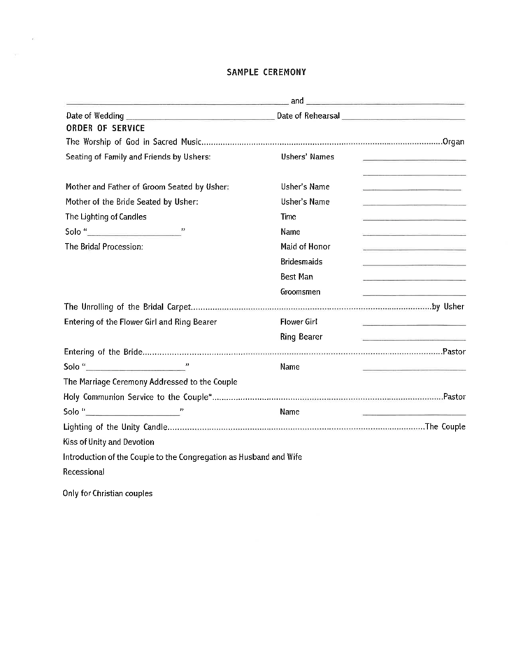 blank wedding checklist form free download