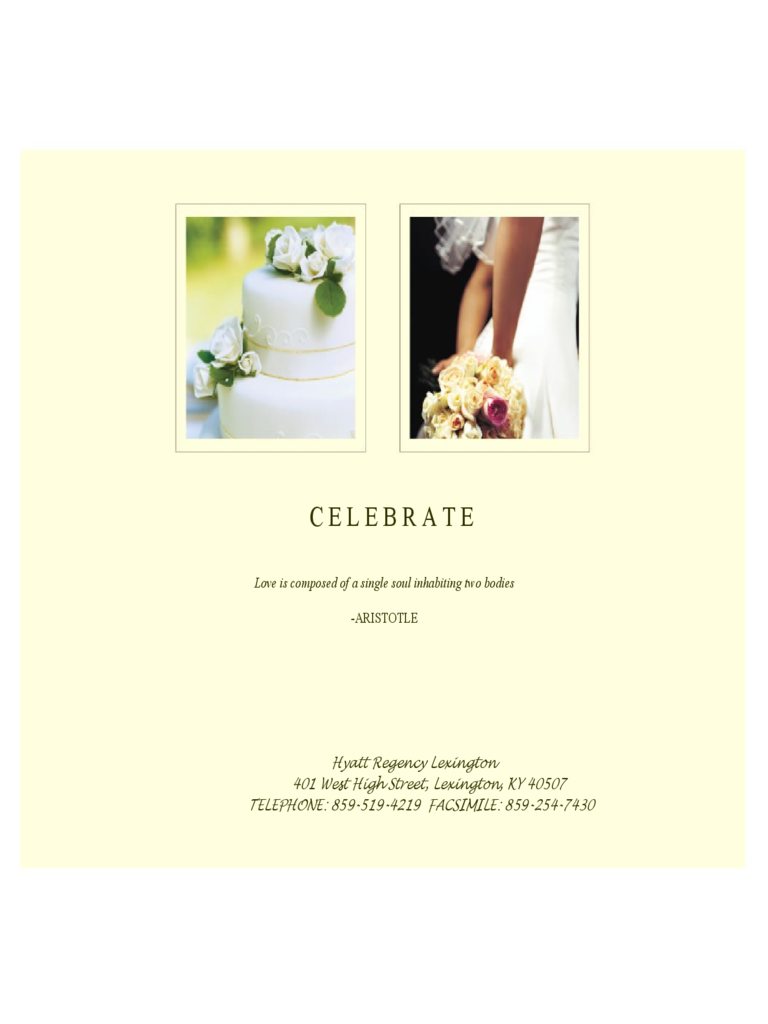 Wedding Menu Template and Designs