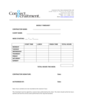 Weekly Timesheet - Connect One Recruitment Free Download