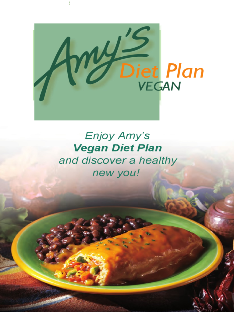 Amy's Diet Plan Vegan Free Download