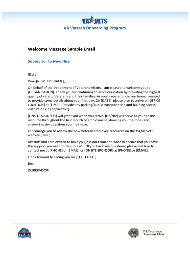 Sample Email Welcome Message