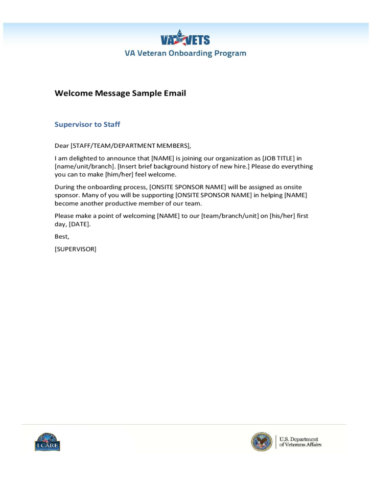 Sample Email Welcome Message Free Download