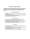 Anchor Welcome Message Guidelines Free Download