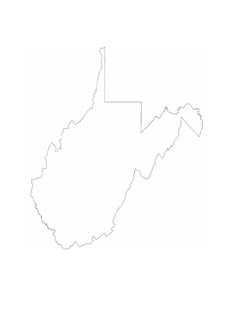 west virginia map template
