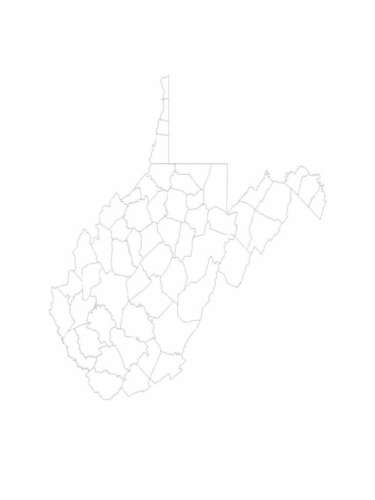Blank West Virginia County Map