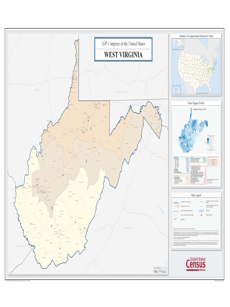 West Virginia Congressional District Map