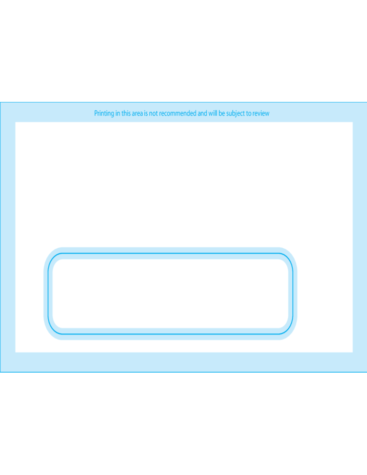 Window envelopes 7 3 3 4 x 6 3 4 front free download for Window envelope design