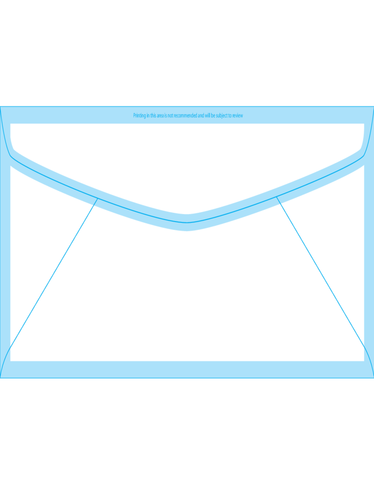 Window envelopes 12 4 3 4 x 11 back free download for Standard window envelope template