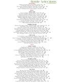 Wine Menu Sample Free Download