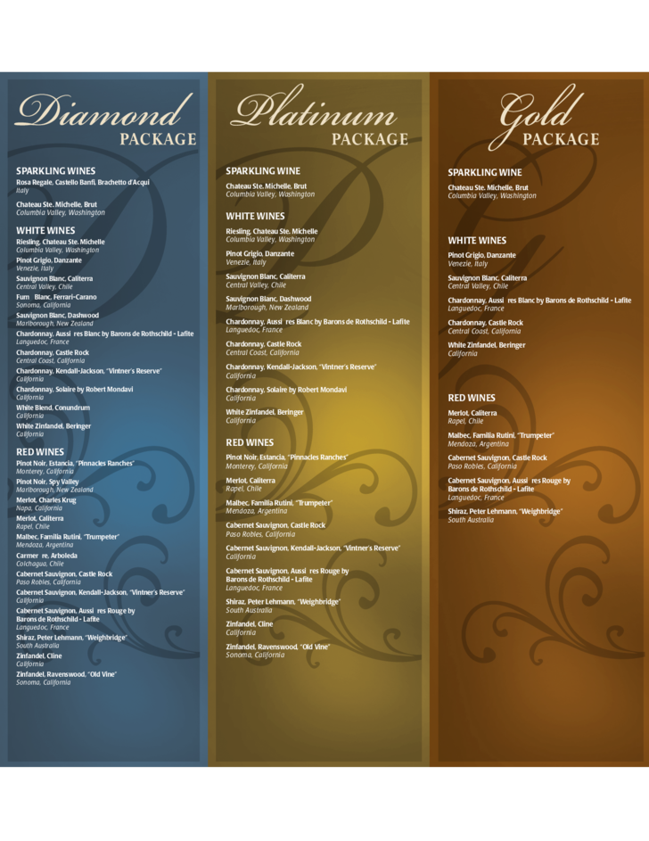 Wine menu template and designs free download for Wine dinner menu template