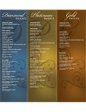 Wine Menu Template and Designs Free Download