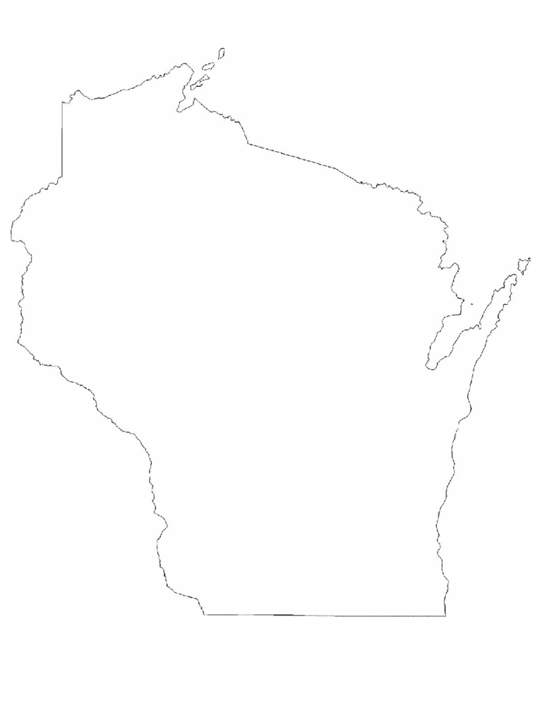 Wisconsin State Outline Map