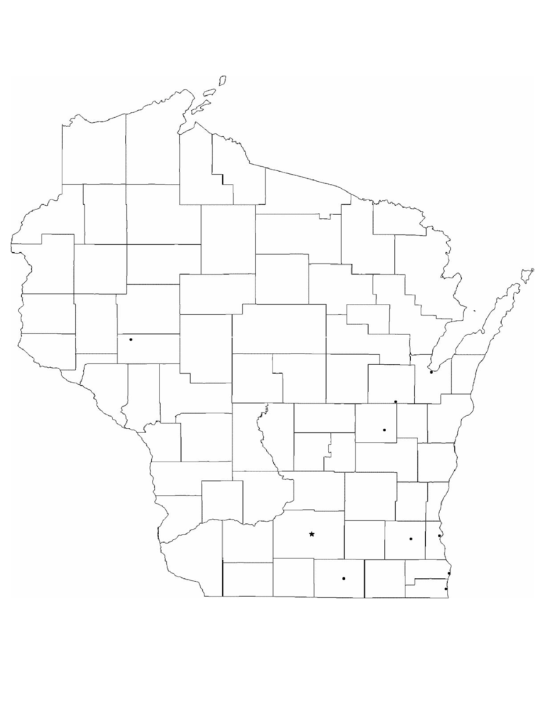Blank Wisconsin City Map