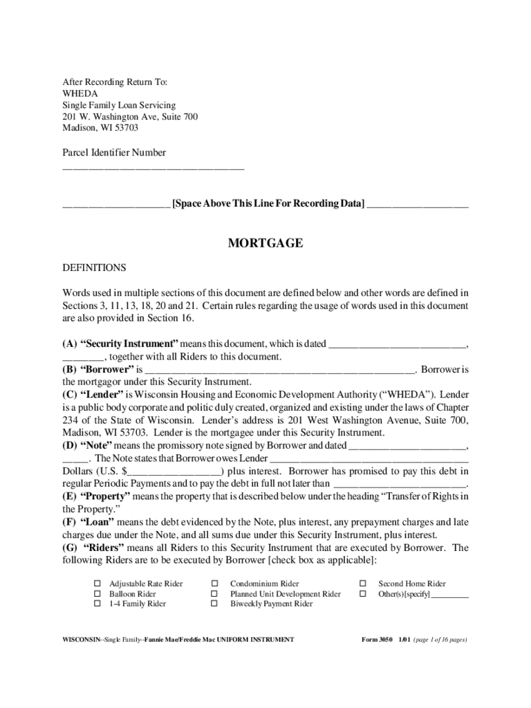Wisconsin Satisfaction of Mortgage Form 2 Free Templates in PDF – Satisfaction of Mortgage Form