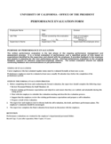 Work Evaluation Form - California Free Download