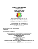State of Alabama Worker's Compensation Information