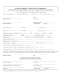 Workers' Compensation Commission Application for Ajustment Claim - Illinois