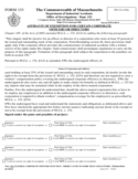 Workers' Compensation Form - Massachusetts