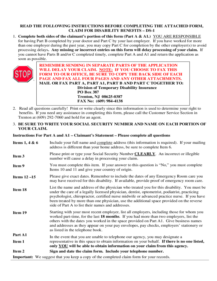Claimant Rights and Responsibilities - New Jersey Free Download
