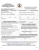 Contractor's Certificate of Workers' Compensation Insurance - Virginia Free Download