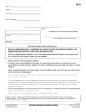 Petition for Writ of Habeas Corpus Free Download