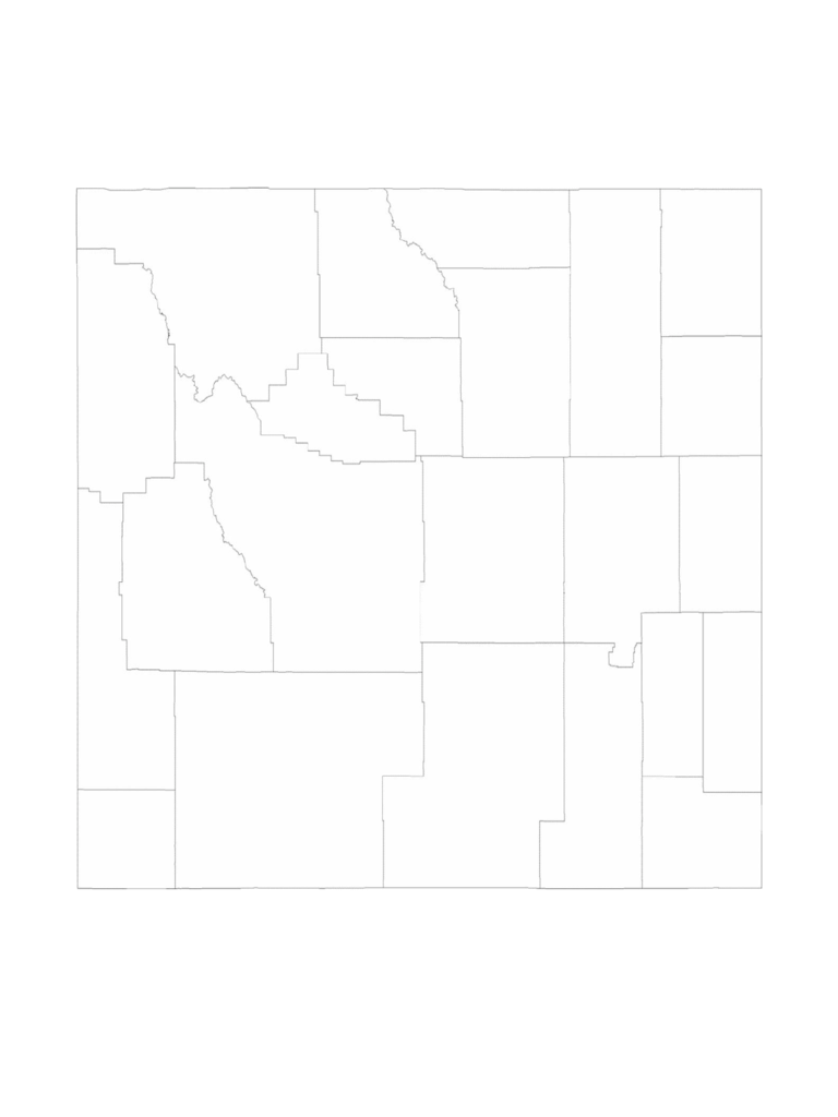 Blank Wyoming County Map