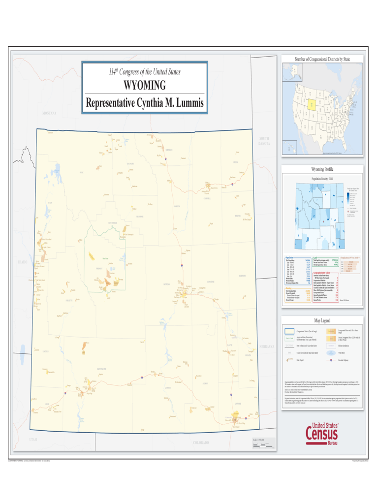 Wyoming Congressional District Map