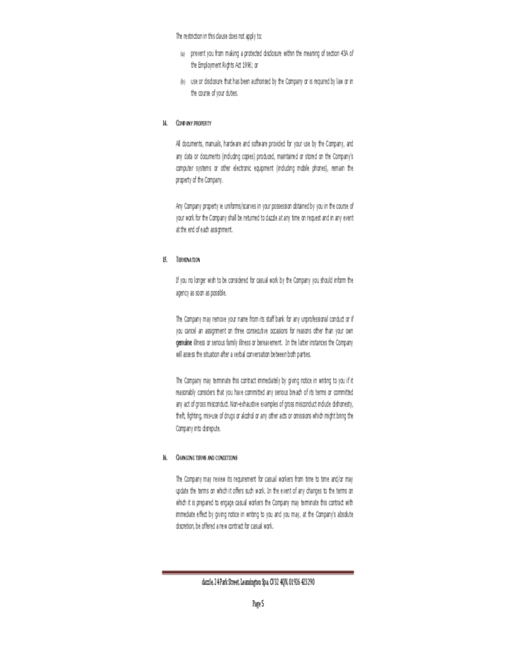 Zero hour contract template uk free download for 0 hours contract template