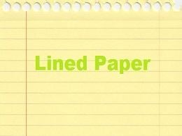 free Lined Paper